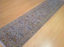 Load image into Gallery viewer, Fine Oriental Oushak Hand-Knotted 100-Percent Wool Runner-Rug Handmade