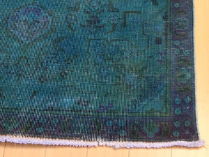 Hand-Knotted Overdyed Handmade Tribal Design 100-Percent Wool Runner-Rug