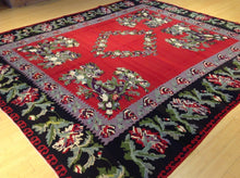 Load image into Gallery viewer, Oriental Turkish Bessarabian Kilim Artisan Real Wool Best Classy Handwoven Unique Rug