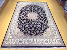 Load image into Gallery viewer, Beautiful Interior-Decorator Pretty Handknotted Oriental Wool Silk Mahal Design Handmade Unique Rug