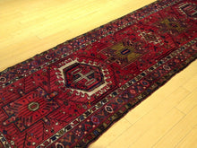Load image into Gallery viewer, Hamadan Vintage Design Handmade Hand-Knotted 100-Percent Wool Runner-Rug