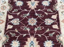 Load image into Gallery viewer, Beautiful Floral Design Handmade Artisan Handknotted Real Wool Peshawar Amazing Unique Rug