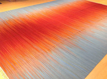 Load image into Gallery viewer, Fine Oriental Reversible Kilim Artisan Handwoven Sunset Design Handmade Amazing Unique Rug