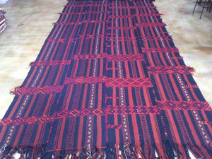 Kurdish Runner Tribal Design Hand-Knotted Hand-Woven 100-Percent Wool