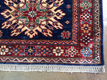 Load image into Gallery viewer, Kazak Runner-Rug Geometric Design Hand-Knotted Hand-Woven 100-Percent Wool