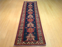 Load image into Gallery viewer, Oriental Super Kazak Tribal Runner-Rug 100-Percent Wool Hand-Knotted Handmade