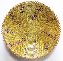Load image into Gallery viewer, 16inches handwoven southwestern design handmade golden basket best quality 144