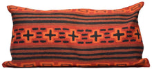 Load image into Gallery viewer, Orange Southwestern Style Hand-Woven Kilim Pillow Cover