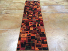 Load image into Gallery viewer, Fine Persian Gabbeh Design 100-Percent Wool Handmade Hand-Knotted Runner-Rug