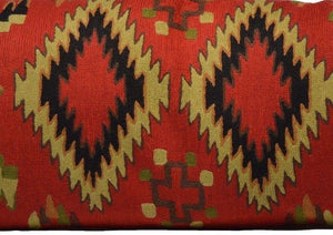 Geometric Vintage Style Hand-Woven Kilim Pillow Cover