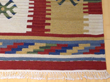 Load image into Gallery viewer, Stunning Handwoven Pretty Flatweave Reversible Geometric Design Kilim Dhurrie Amazing Unique Rug