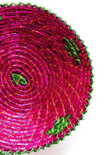 Load image into Gallery viewer, 12inches handwoven southwestern design handmade mauve pink basket 162