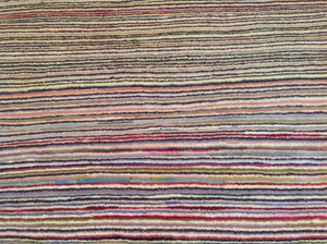 Beautiful Fine Tribal Stripe Peshawar Gabbeh Design Best Handknotted Real Wool Rug