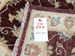 Beautiful Floral Design Handmade Artisan Handknotted Real Wool Peshawar Amazing Unique Rug
