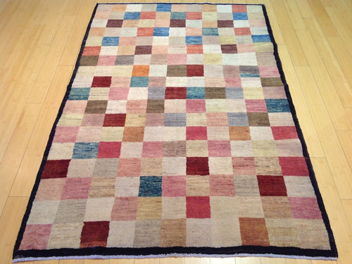 Beautiful Persian Gabbeh Design Real Wool Splendid Handknotted Classy Area Unique Rug