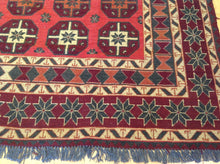 Load image into Gallery viewer, Afghan Oriental Soumak Gorgeous Real Wool Tribal Caucasian Design Amazing Unique Rug