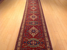 Load image into Gallery viewer, Kazak Traditional Tribal Geometric i Design 100-Percent Wool Runner-Rug