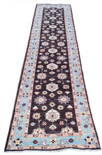 Load image into Gallery viewer, Hand-Knotted Peshawar Chobi Tribal Design 100-Percent Wool Runner-Rug