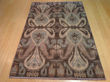 Load image into Gallery viewer, Beautiful Fine Modern Chobi Ikat Design Splendid Handknotted Real Wool Handmade Rug