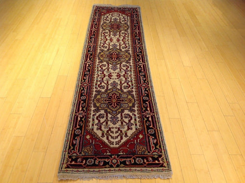 Persian Traditional Tribal Heriz/Serapi Design 100-Percent Wool Runner-Rug