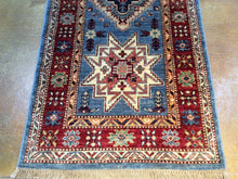Load image into Gallery viewer, Fine Hand-Knotted Super Kazak Caucasian Design 100-Percent Wool Runner-Rug