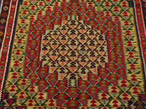 Beautiful Interior-Decorator Oriental Persian Sanna Lovely Handwoven Reversible Kilimreal Wool Unique Rug