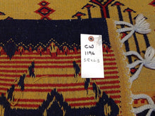 Load image into Gallery viewer, Oriental Turkish Pretty Handwoven Soumak Real Wool Handmade Classy Amazing Unique Rug