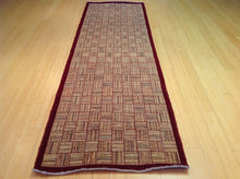 Load image into Gallery viewer, Fine Peshawar Oriental Gabbeh Hand-Knotted Handmade 100-Percent Wool Runner-Rug