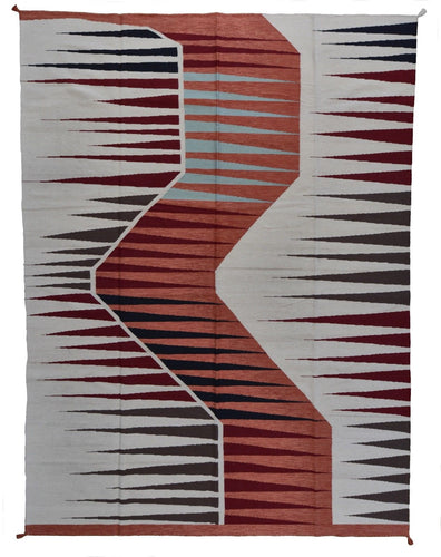 Hand-Woven Modern Design Handmade Wool Rug (Size 9.0 X 12.0) Brrsf-2157
