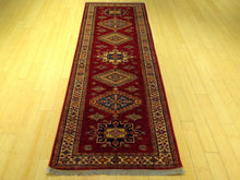 Load image into Gallery viewer, Fine Super Kazak Tribal Design Handmade Hand-Knotted 100-Percent Wool Runner-Rug