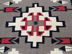 Beautiful Interior-Decorator Pretty Gorgeous Handwoven Reversible Southwestern Design Kilim Real Wool Rug