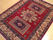 Load image into Gallery viewer, Beautiful Super Kazak Gorgeous Handknotted Handmade Oriental Design Real Wool Unique Rug