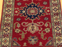 Load image into Gallery viewer, Oriental Kazak Tribal Design Handmade Hand-Knotted 100-Percent Wool Runner-Rug