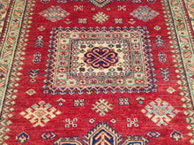 Load image into Gallery viewer, Fine Oriental Super Kazak Tribal Design Splendid Handknotted Real Wool Unique Rug