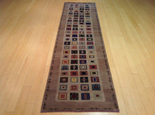 Load image into Gallery viewer, Fine Modern Gabbeh Design Hand-Knotted Handmade 100-Percent Wool Runner-Rug