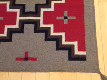 Load image into Gallery viewer, Reversible Hand-Woven Darrie Southwestern Design 100-Percent Wool Kilim