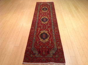 Fine Oriental Traditional Heriz Serapi Design 100-Percent Wool Runner-Rug