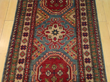 Load image into Gallery viewer, Fine Oriental Hand-Knotted Tribal Kazak Handmade 100-Percent Wool Runner-Rug