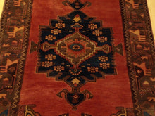 Load image into Gallery viewer, Persian Vintage Tribal Handmade Hand-Knotted 100-Percent Wool Runner-Rug