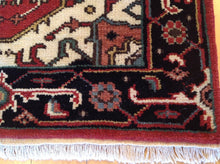 Load image into Gallery viewer, Persian Traditional Heriz Design Hand-Knotted 100-Percent Wool Runner-Rug