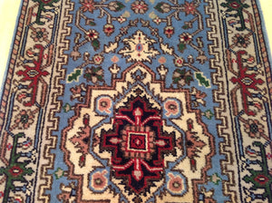 Fine Serapi Hariz Traditional Design 100-Percent Wool Hand-Knotted Runner-Rug