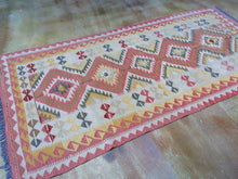 Load image into Gallery viewer, Afghan Oriental Mimana Kilim Hand-Woven Reversible 100-Percent Wool Runner-Rug