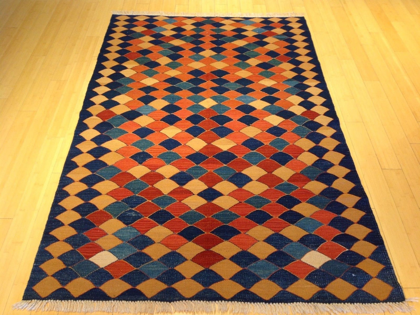 Beautiful Interior-Decorator Oriental Reversible Turkish Kilim Splendid Handwoven Real Wool Unique Rug