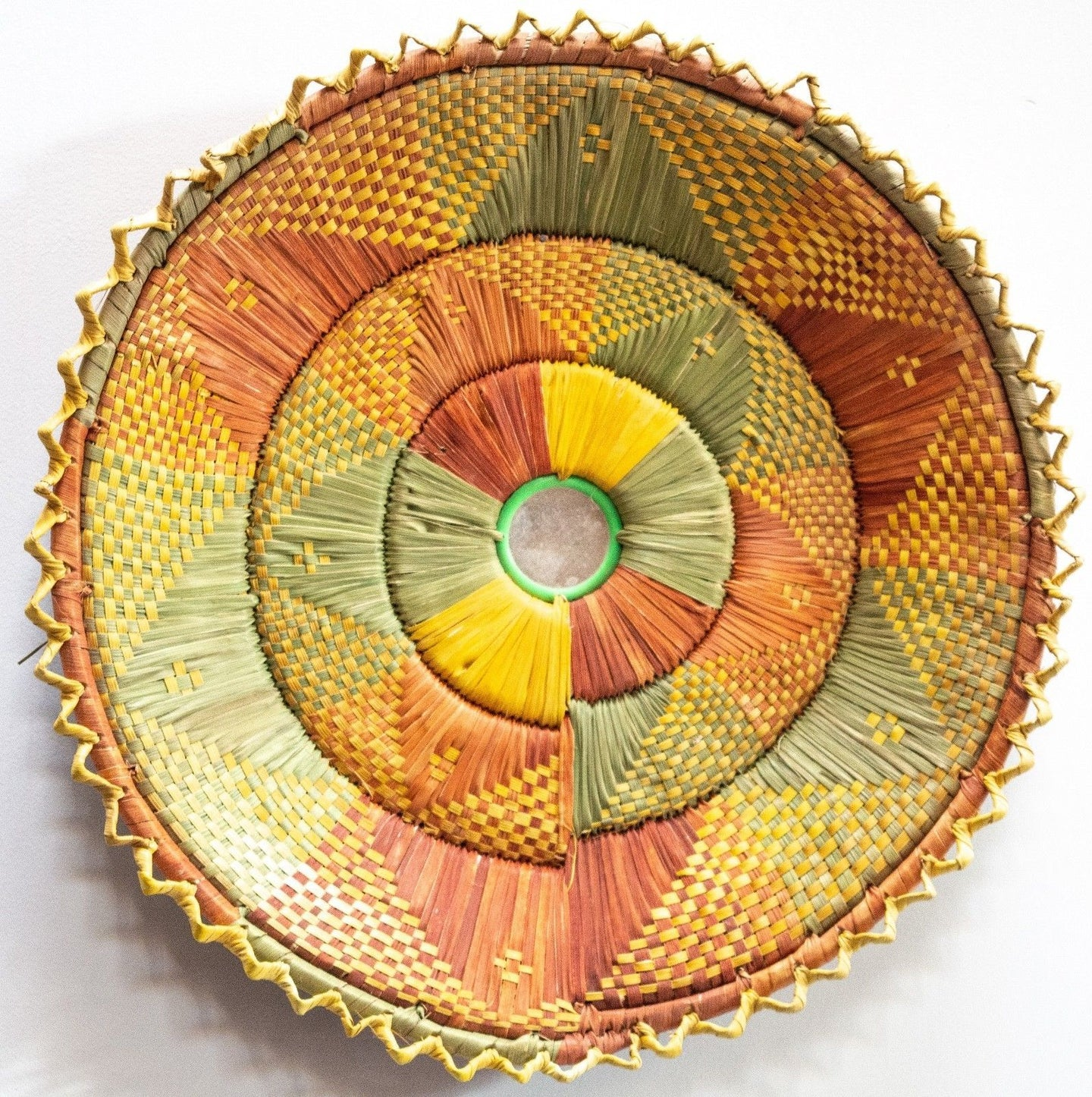 12inches handwoven southwestern design handmade coil basket best quality 201