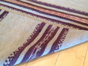 Afghan Traditional Tribal Sumak Hand-Woven 100-Percent Wool Runner-Rug
