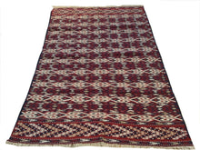 Load image into Gallery viewer, Afghan Interior-Decorator Flatweave Soumak Handmade Handwoven Real Wool Classy Amazing Unique Rug