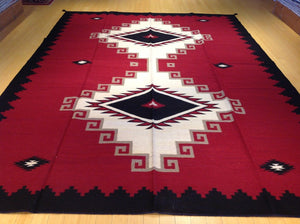 Flatweave Authentic Dhurrie Gorgeous Handwoven Reversible Kilim Handmade Real Wool Unique Rug