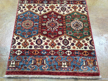 Load image into Gallery viewer, Fine Hand-Knotted Oriental Kazak Khorjan Design 100-Percent Wool Runner-Rug