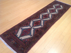 Fine Oriental Persian Traditional Tribal Runner-Rug 100-Percent Wool Handmade