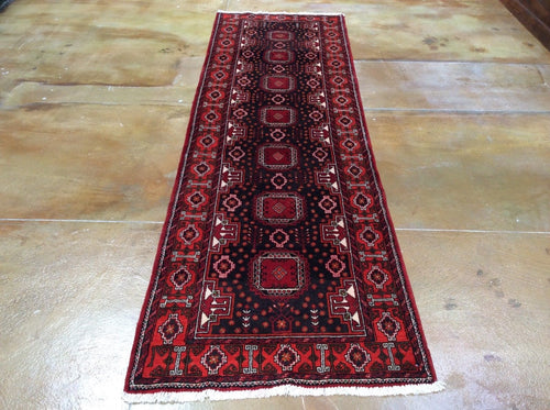 Persian Oriental Traditional Tribal Design 100-Percent Wool Runner-Rug